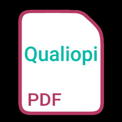 Icone pour ouvrir le lien vers le pdf Qualiopi