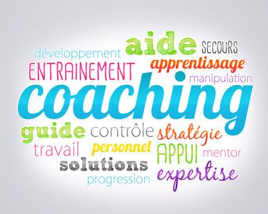 nuage d'étiquettes en lien avec le coaching